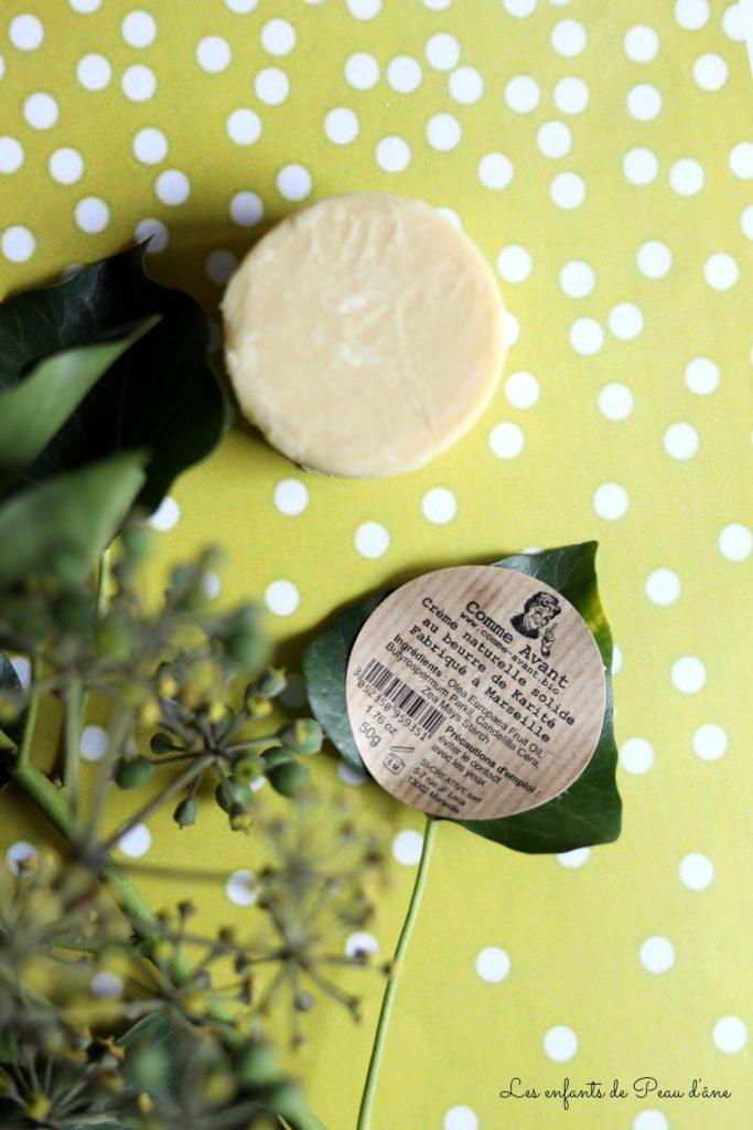 Comme Avant - Crème Naturelle Solide au beurre de Karité