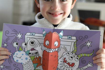 Flammarion Jeunesse - Livre d'activité Pop-up Les monstres - Collage monstre 3