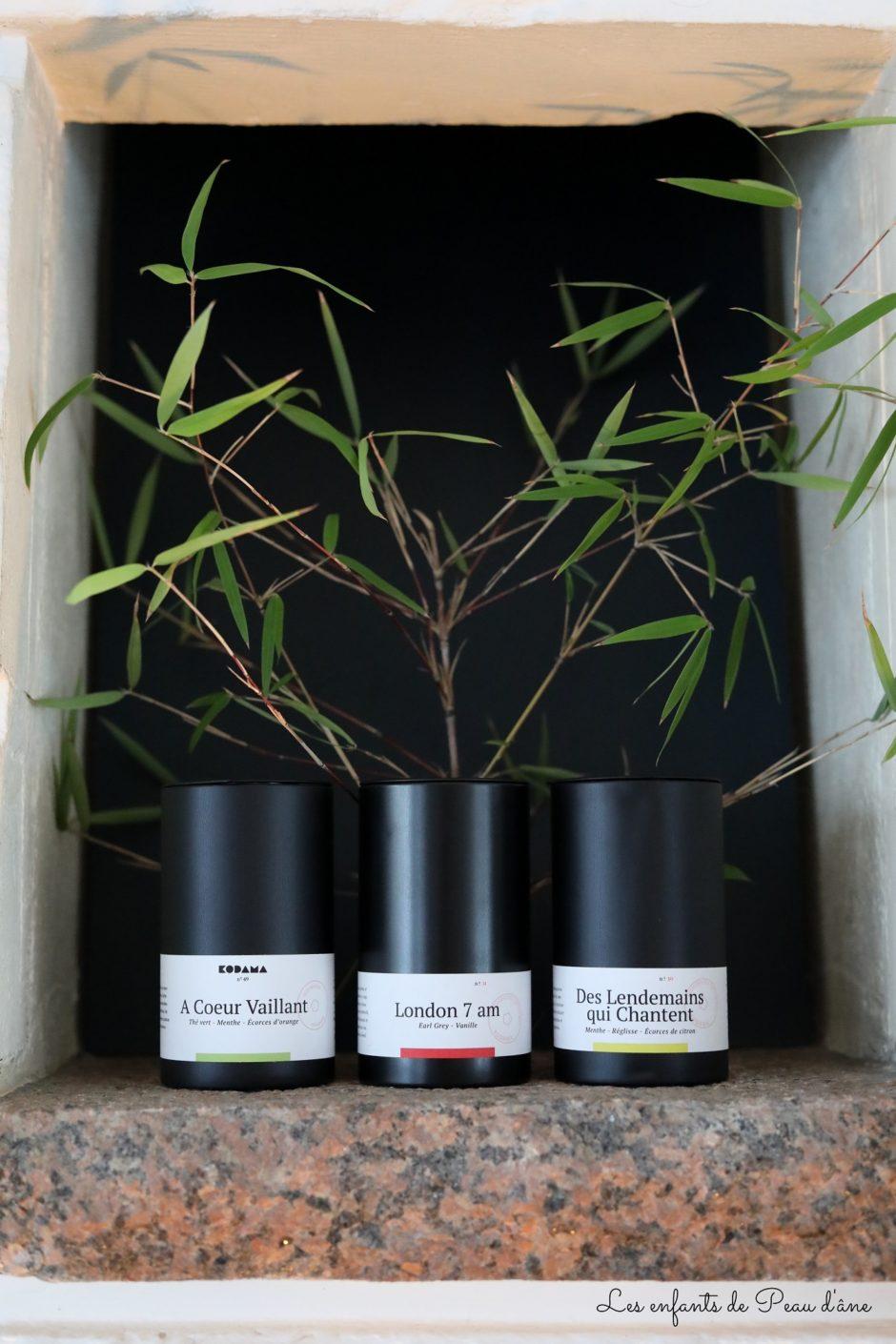Kodama - 3 boîtes de thé