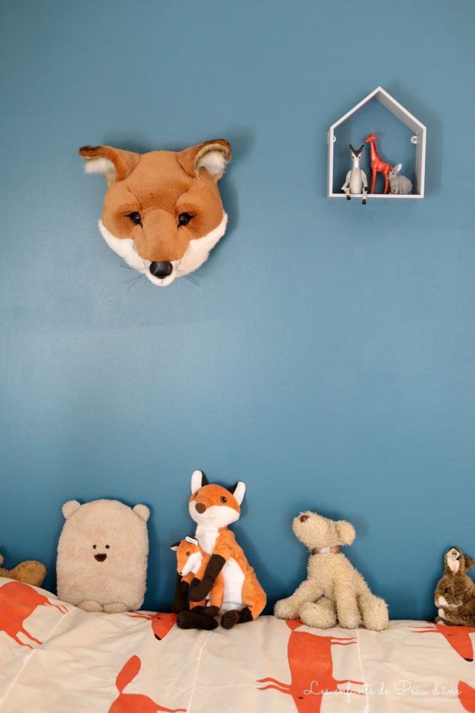 Bébé Gavroche - Tête de renard Bibib & Co. - Wild & soft - Accrochée au mur