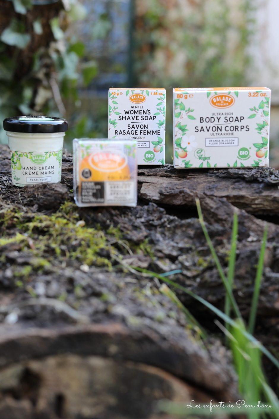 Balade en Provence - Crème mains, baume cuticules, savon mains et savon rasage