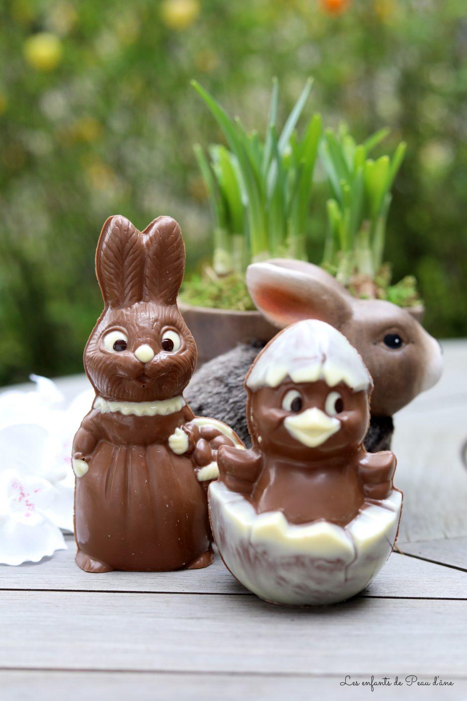La ferme chocolat - Lapine et poussin
