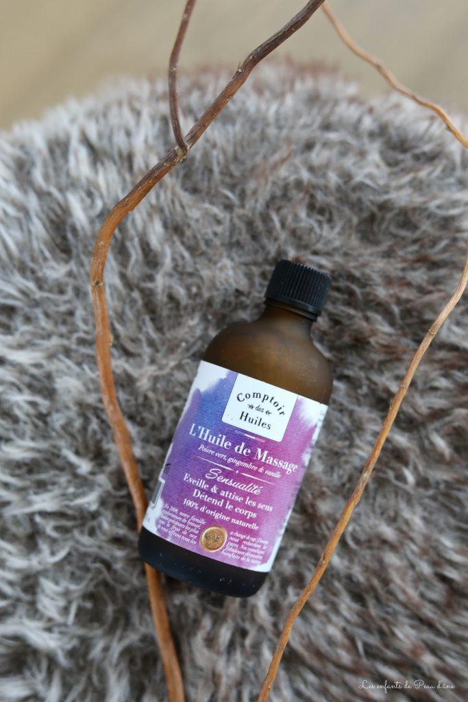 Box Belle au naturel - Huile de massage Comptoir des huiles